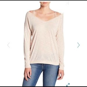Michael Stars | Cold Shoulder Long Sleeve Tee